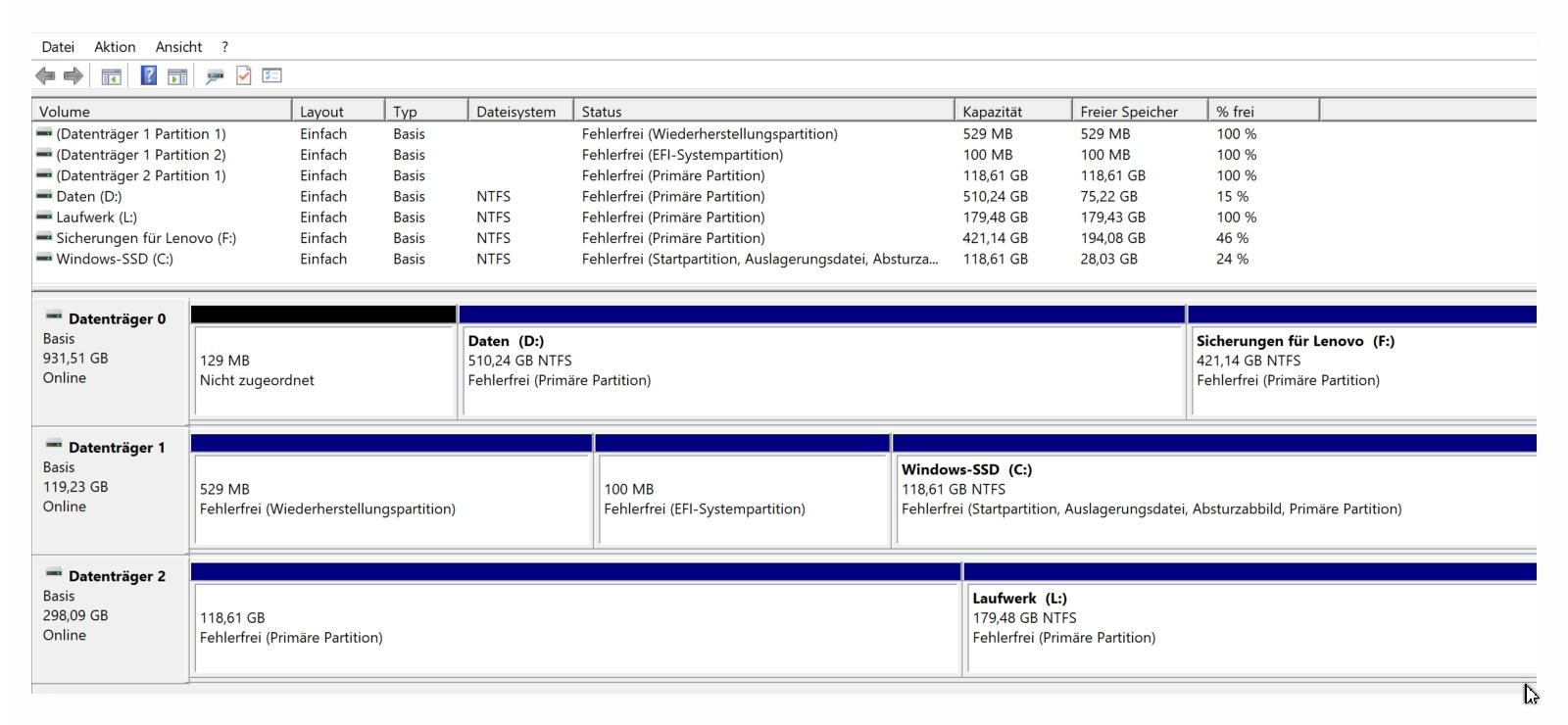 Datenträgerverwaltung2